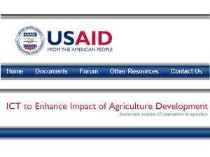 Welcome to the ICT and AG community website. It has been set up for use by anyone interested in the topic, including USAID and other government agency partners, USAID implementing partners, private sector service providers, and other agriculture and ICT practitioners. Provides an unbelievable collection of ICT in Agri resources