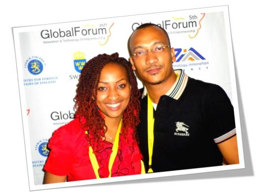 Biko Adams (right) and fellow African Entrepreneur