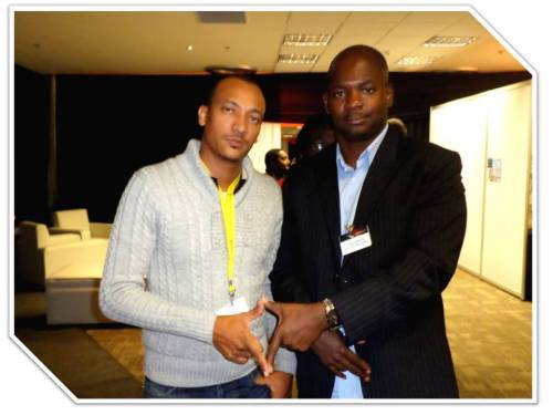 Biko Adams (left) and fellow Trinidadian Entrepreneur at the 5th Global Forum on Innovation Entrepreneurship and Technology