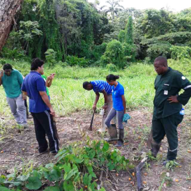 Innovation 4Agriculture, a youth group in the field plans the landscape for thier upcoming farming project