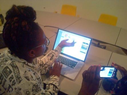 App developer at Telesur facility at the University of Suriname.