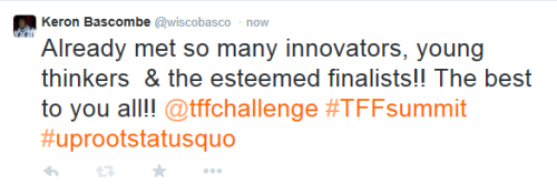 #TFFsummit - TFF inspires new ideas and bold approaches to tackle the world's food issues. www.tffchallenge.com.